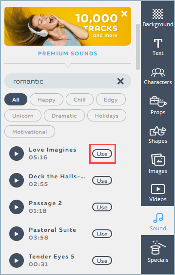 Adding Music to Your Powtoon   Help Center